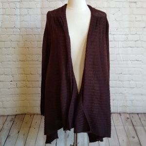 Moth brown shawl cardigan sweater S